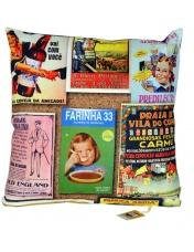 Almofada Vintage Rótulo