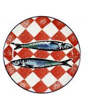 Prato Jantar -Toalha vermelha